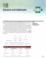 Ch 18 - Ketones and Aldehydes