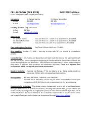 syllabus final pdf cell biology pcb 3023 section 003 ref 92794 and