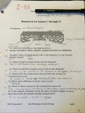BI 212 Homework for Lectures 7-12
