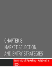 Week 6 - Topic - Market selection and entry strategies (1)