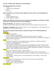 Lecture 6 Study Guide (Digestion and Absorption).doc
