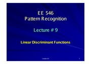 EE546_L09 - Linear Discriminant Functions II