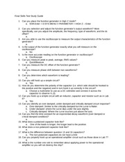 Final Skills Test Study Guide Fall 2013