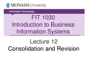 FIT1030 Lecture 12_Consolidation and Revision