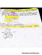 CECS 121 Transmission And Reflection Coefficients Notes