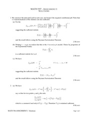 MATH 557 Fall 2013 Assignment 1 Solutions