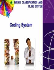 2C-IMR504- Coding system.ppt