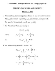 [D] Section 14.2 - Principle of Work and Energy Derivation