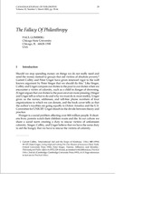 gomberg 2002 - the fallacy of philanthropy