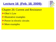 Phys 0175 - Lecture 16