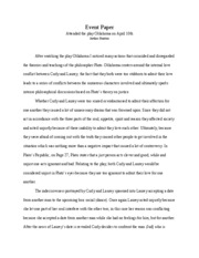 Philosophy Event Paper