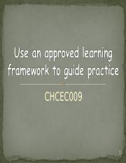 Power point Use an approved learning Framework White and red.ppt