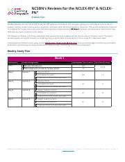 8_week_Review_StudyPlan pdf - NCSBN's Reviews for the NCLEX
