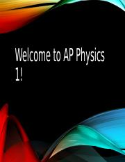 Introduction to AP Physics 1.ppt