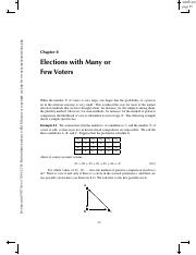 8. Elections with Many or Few Voters