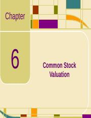 Chap06_Common Stock Valuation.ppt