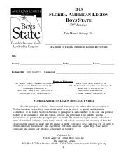 2013 Boys State Citizen Manual
