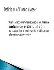Chapter 7-Financial instruments, cash, receivables and payables