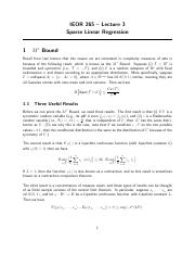 ieor265_lec3_Sparse_Linear_Regression
