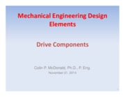 Lecture 22-23 - Drive Components - Nov 21-24, 2014