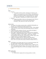ENRON- OB Case Analysis