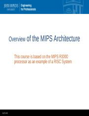 Overview of the MIPS RISC Architecture 1.1- MIPS Architecture_final.pptx