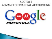 case study-acquisition of motorola by Google (ACCT)