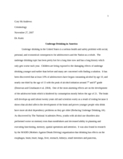 Final Draft - Underage Drinking and Policies