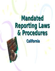 Mandated Reporting Laws  Procedures INTERACTIVE-1