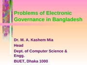 Electronic Governance