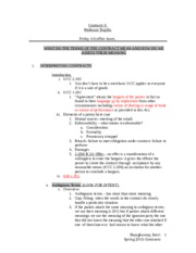 Contracts MAIN  Outline 2015