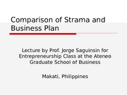 comparisonofstramaandbusinessplan-110515225305-phpapp01.ppt