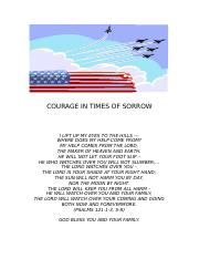 COURAGE IN TIMES OF SORROW