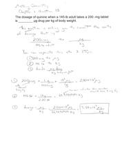 Printables Chemistry A Study Of Matter Worksheet Answers chem 0629 030a foothill college course hero 1 pages quinine dosage