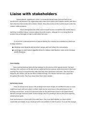 Liaise with stakeholders.docx