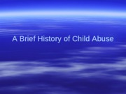 History of Child Abuse