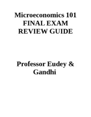Final Study Guide Econ