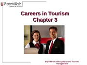 Chapter 3 Career Opportunites in Tourism