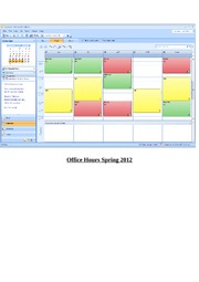 Office Hours Spring 2012