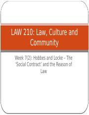 Law, Culture and Community Week 7(2)(2)