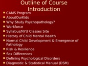 Course Introduction Notes