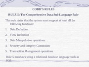 codds rules 5 and 6