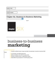 Chapter 6 Notes - B2B Marketing