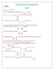 6.GRADE12-MATRIX - DETERMINANT-1-4-6-MARKS-GRADED QNS