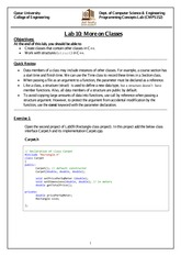 [Fall 2013] Lab #10 - More on Classes
