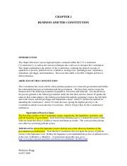 Chapter 2 Business and the Constitution-1