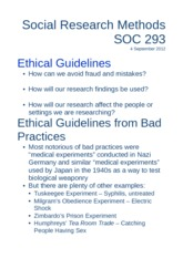 Week 2 - Ethical Guidelines