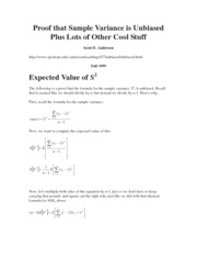 EXPECTED VALUE OF SAMPLE VARIANCE