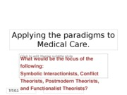 Applying+the+theory+paradigms+to+Medical+Care
