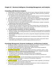 Chapter 12 - Business Intelligence, Knowledge Management, and Analytics.docx